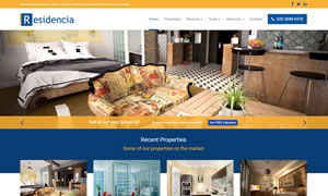 Residencia Light - Estate Agents Website Template